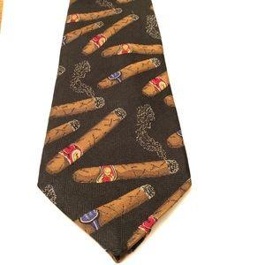 Vintage Robert Talbot best of class cigar silk tie